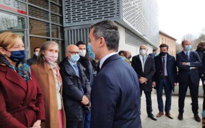 Inauguration de l'Hôtel de police d'Annemasse en présence du ministre de l'Intérieur