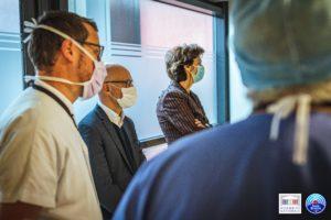 🏥👏 Xavier Roseren rencontre le personne hospitalier des Hôpitaux du Pays du Mont-Blanc pour les soutenir sur le terrain et prendre connaissance de la situation de cette seconde vague