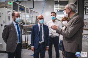Visite de l'entreprise Bouverat Industries, à Marnaz