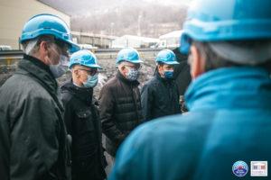 Réunion puis visite du site SGL Carbon à Chedde pour diminuer les rejets atmosphériques et aqueux