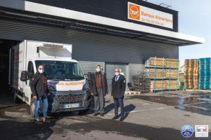 Xavier Roseren visite la banque alimentaire de Haute-Savoie