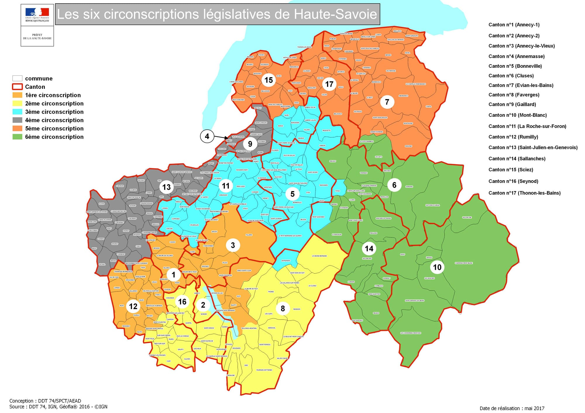 carte circonscription haute savoie Carte de la sixième circonscription de Haute Savoie   Xavier