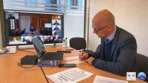 Réunion avec le Premier ministre Jean Castex et une partie du Gouvernement sur l'ouverture des stations de montagne