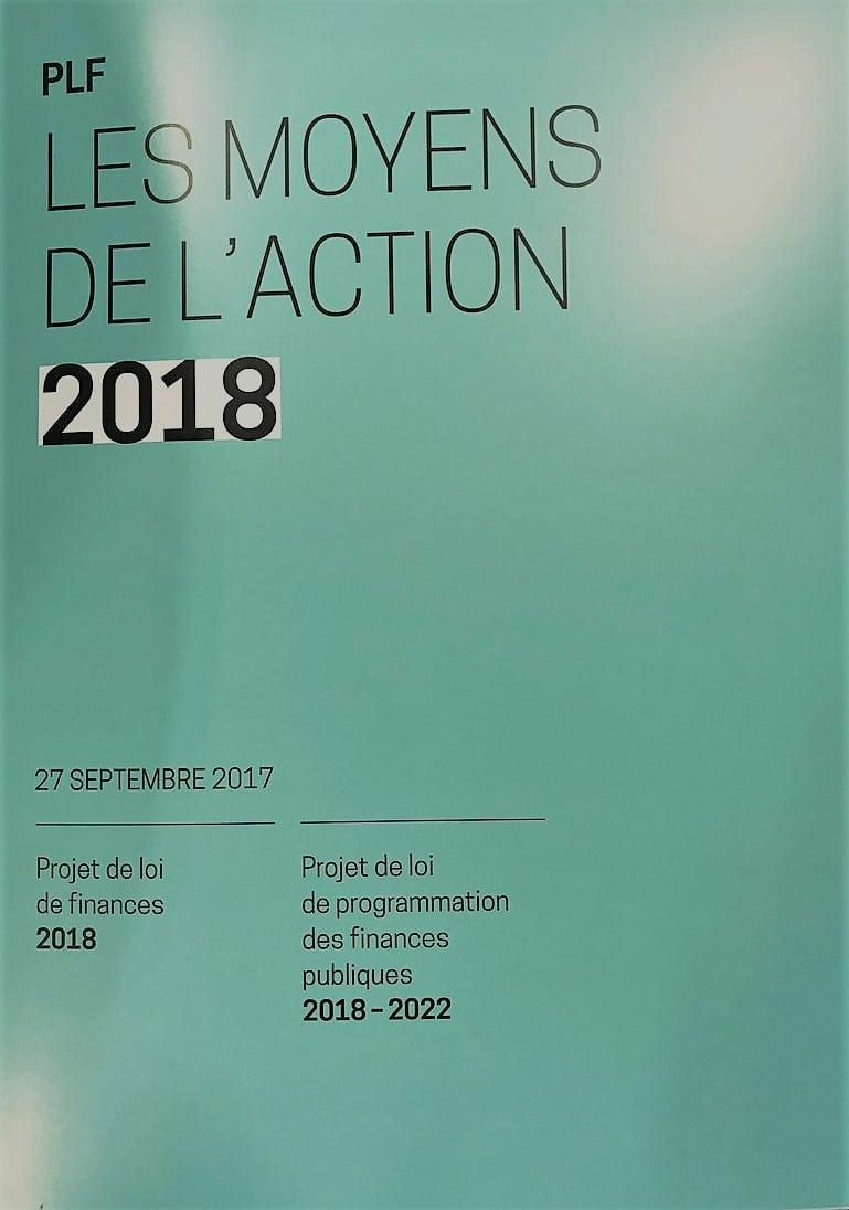 PLF 2018: un budget de transformation et de pouvoir d'achat