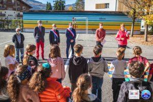 🇫🇷🧑🏫  Hommage à Samuel Paty à l'école de Marlioz, sur la commune de Passy