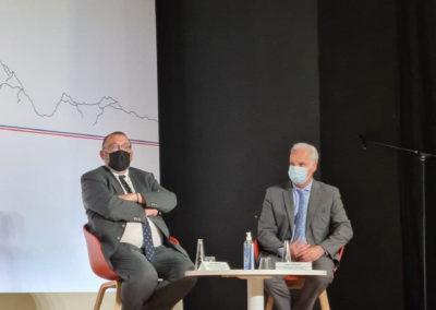 Joël Giraud, ministre de la Ruralité et Alain Griset, ministre des Petites et Moyennes Entreprises