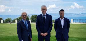 Xavier Roseren a échangé avec le ministre de l'Economie Bruno Le Maire
