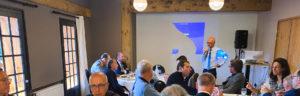 Xavier Roseren organise un déjeuner de travail avec les élus locaux et le préfet Alain Espinasse